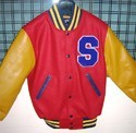 Bright Red Varsity Jacket