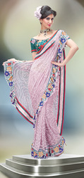 Onion Pink Freeing Saree