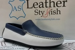 men leather loafer