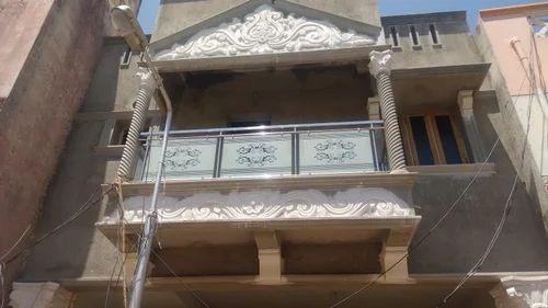 Rolling Shutter Stainless Steel Glass Balcony Railing