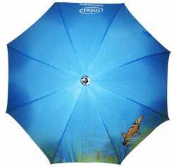 Printed Royal Blue Umbrella