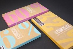 Kraft Paper Chocolate Bar Packaging with Custom Logo Print