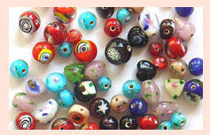 Satin Flower Mix Beads