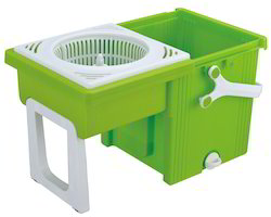 Kawachi Folding 360 Easy Spin Square Mop Bucket