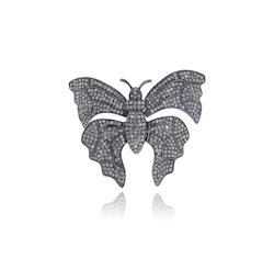 Diamond Butterfly Cocktail Ring