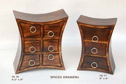 wooden spice drawers