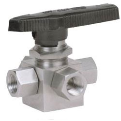 Switching Service Ball Valve Four-Way Screwed Ends
