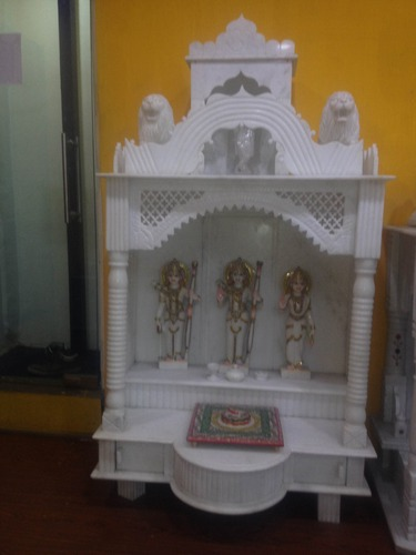 Marble mandir makrana marble home temple manufacturer from hyderabad for Marble temple designs for home
