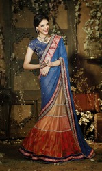Party Wear Indian Designer Embroidered Saree