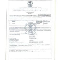SSI No. Certificate
