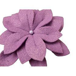 Lavender Felt Flower