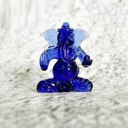 Blue Ganesha - Borosilicate Glass Burnerwork - Many Sizes