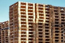 Heat Treated Wooden Pallets Stacked