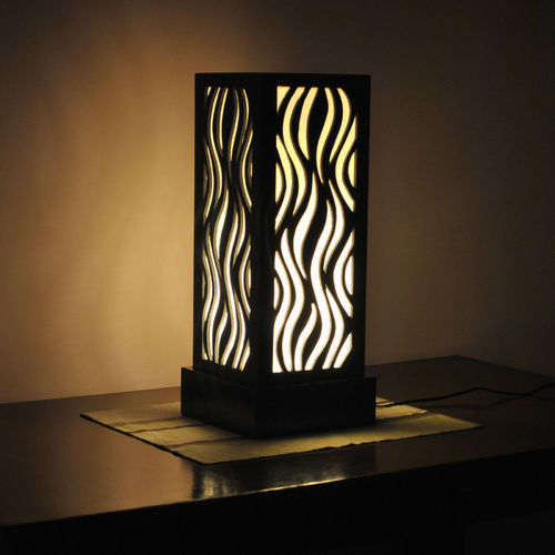 Acrylic Lamps With Light Mdf Jali Table Lamps