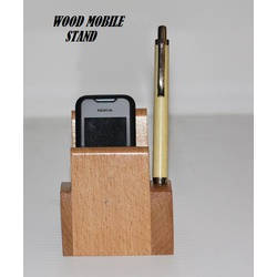 Wood Mobile Stand