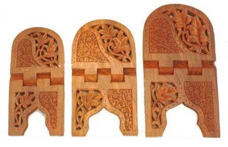 Wooden Handicrafts Wooden Designer Rehal Exporter From Saharanpur
