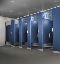 Toilet partitions suppliers manufacturers traders in for Bathroom partition hardware near me