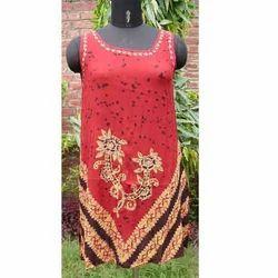 designer rayon crepe dress