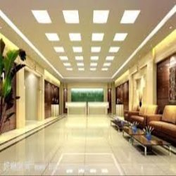 Molded fiber ceiling