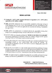 CPRI Type Test Report with Latest IS 135 73 : 2011