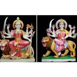 Marble Durga God Statue