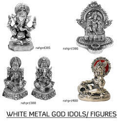 White Metal God Idols
