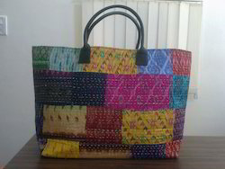 Silk Patchwork Hand Bag