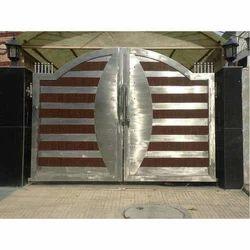 Stainless steel main gates designer stainless steel for Stainless steel driveway gates designs