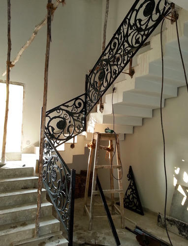 Designer Cast Iron Stair Case Railing