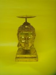 Golden Buddha Candle Stand ( CS RHF - 23 )