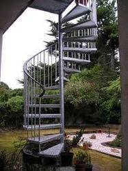 Steel Garden Stairs