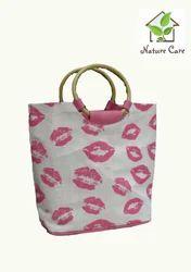 Fancy Ladies Jute Handbag