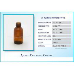 70 Ml Amber Tincture Bottle