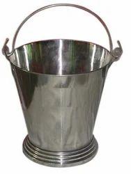 Stainless Steel Water Storage Bucket Traditional Design