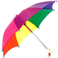 10Multi Coloured Automatic Umbrella