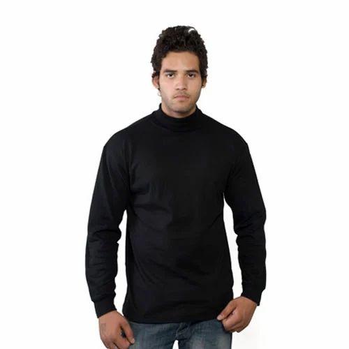 High Neckline Shirts Men' s High Neck T-shirts