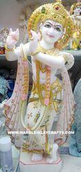 Luxurious Marble Krishna Statue