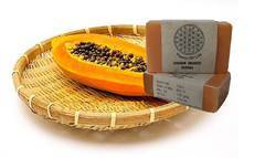 Papaya Soap with Orange and Ginger Essential Oil