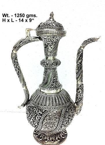 White Metal Surahi Fine New