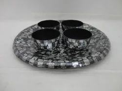 Glass Mosaic Plate