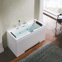 whirlpool bathtub rectangular