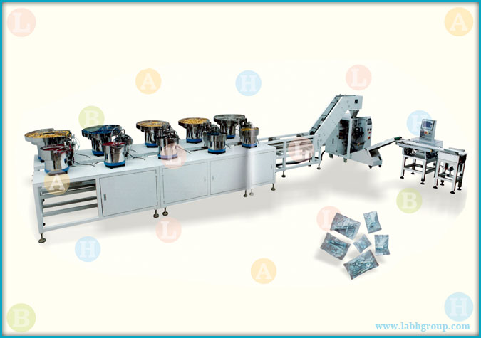 Vertical Pouch Packaging Machine with Counter Filler