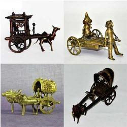 Dhokra Bell Metal Miniature Carts