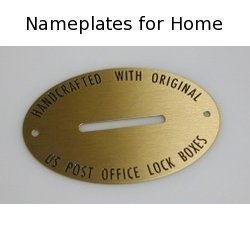 Nameplates for Home