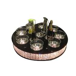 Black Crystal Lazy Susan
