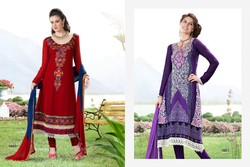 Crepe Salwar Suits