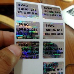 Imprinted Hologram Labels