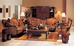 Natalie Wooden Sofa Set