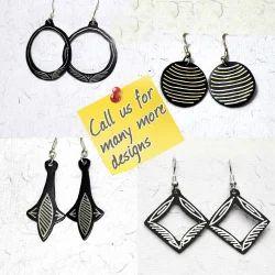 Bidriware Designer Earrings - Metal Jewellery Earring