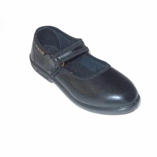 Girls Velcro School Shoes